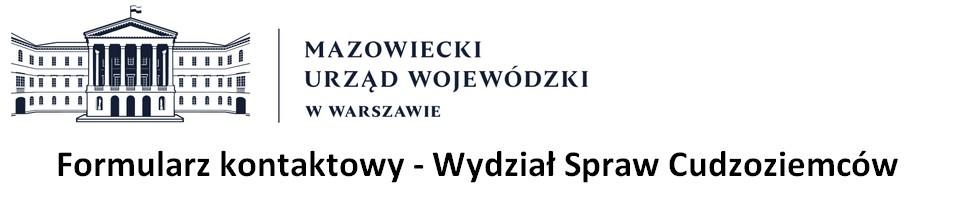 Formularze kontaktowe - Mazowiecki Urząd Wojewódzki